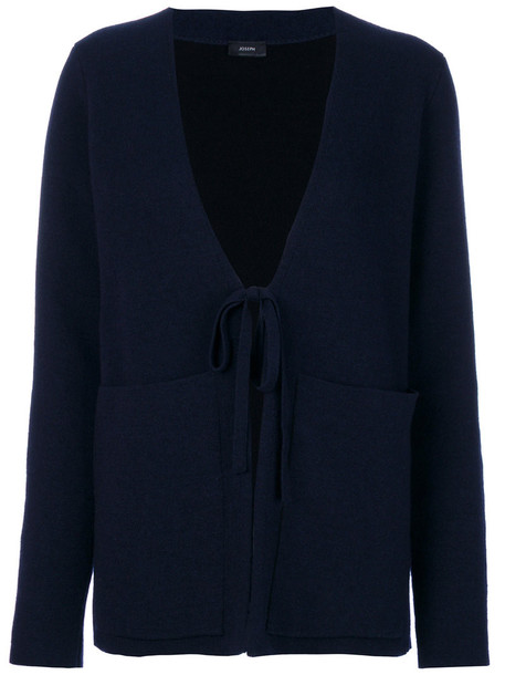 Joseph cardigan cardigan women spandex blue wool sweater