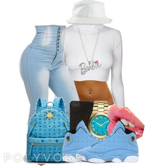 jordans crop tops shorts