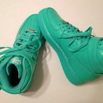 shoes nikes sneakers swag dope feelin' myself fleek teal
