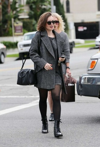 boots lily collins fall outfits shoes