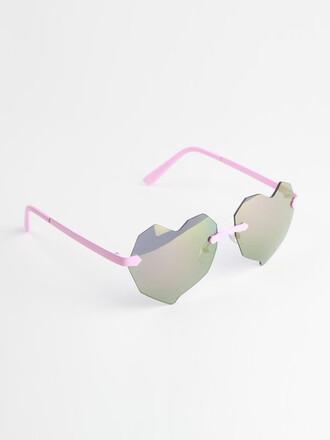 sunglasses heart mirrored sunglasses geometric heart sunglasses