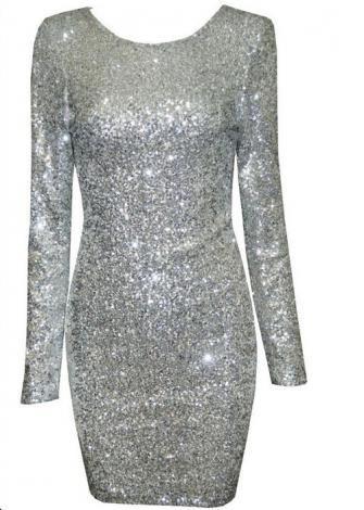 Sequin open back dress