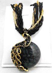 jewels,chroma zone,crystal,peacock,pendant