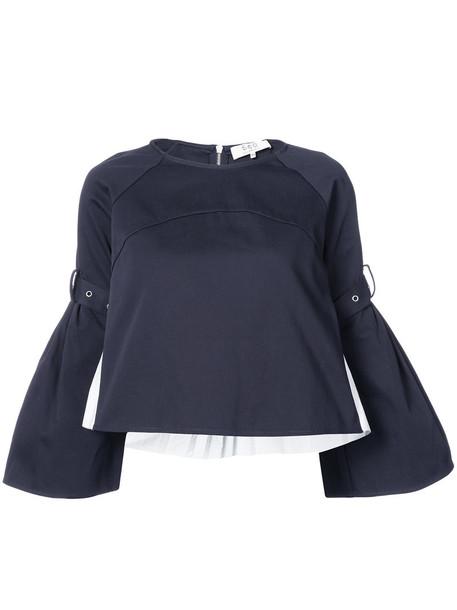 SEA blouse women cotton blue top