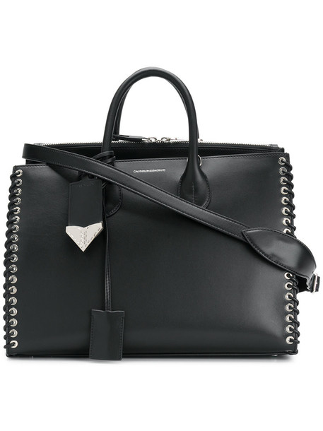 Calvin Klein 205W39nyc - woven detail tote - women - Leather - One Size, Black, Leather