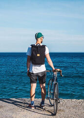 bag,sac a dos,bike,velo,sea,backpack,rucksack,rolltop backpack,bicicletta,mens accessories,lifestyle,style,style me