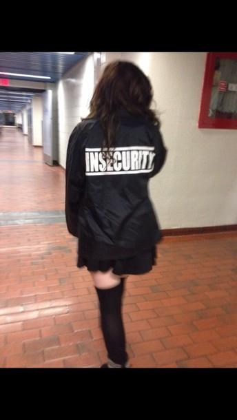jacket goth black pastel goth black jacket white letters cute
