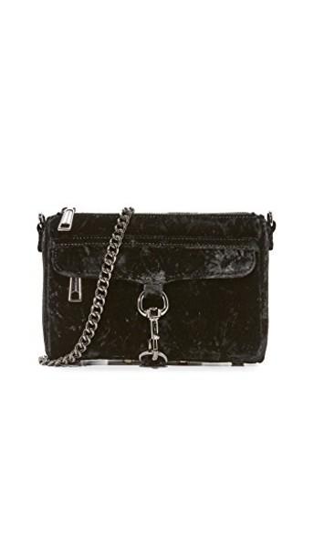 Rebecca Minkoff mini crushed velvet bag velvet black
