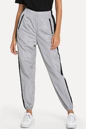 pants,girly,girl,girly wishlist,joggers,trendy,joggers pants,reflective,grey,track pants