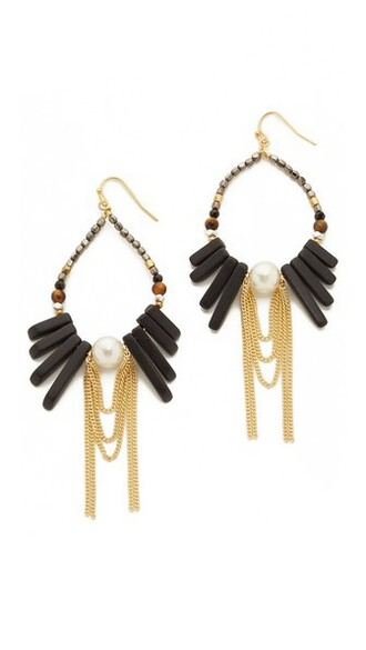 earrings black jewels
