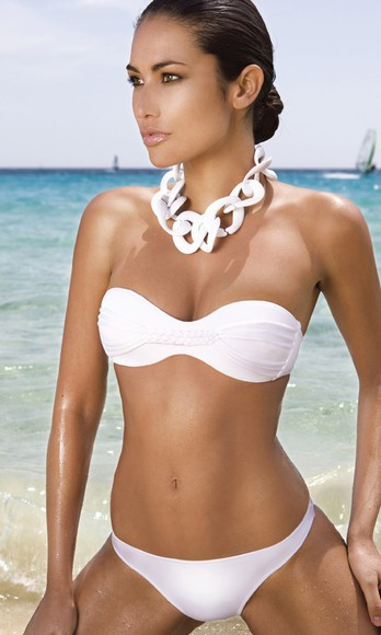 swimwear white bandeau