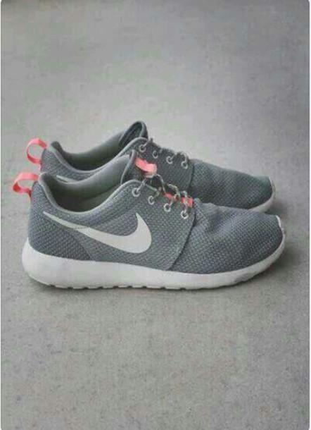 shoes nike roshe run nike roshe run nike grey grey sneakers nike running shoes roshe runs grey coral white  womens. roshe runs