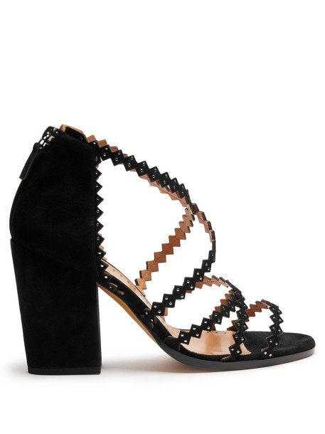 ALEXA WAGNER heel sandals suede black shoes