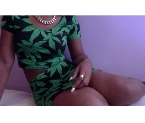 tank top weed t-shirt short weed