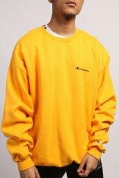 sweater,yellow,sweatshirt,jumper,mens,women,hoodie,champion