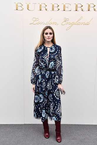 dress midi dress olivia palermo fashion week 2016 london fashion week 2016 burberry