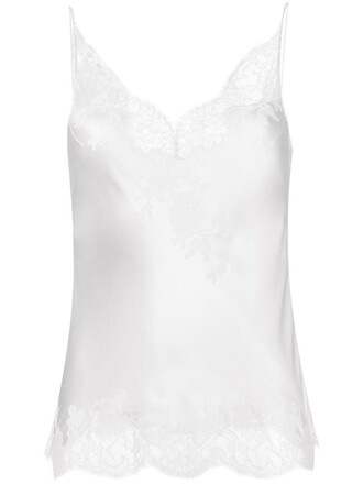 camisole women lace white silk underwear