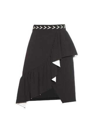skirt ruffle white black
