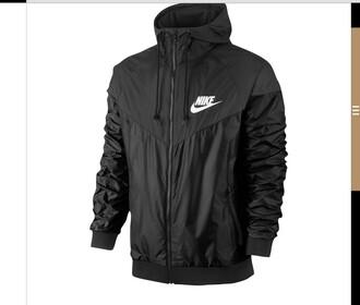 jacket nike menswear windbreaker black long sleeves sportswear