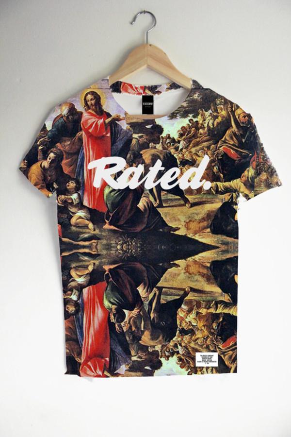t-shirt t-shirt hype motif shirt