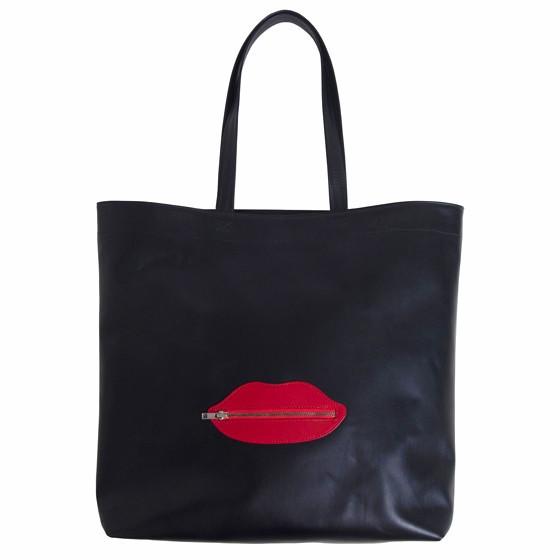 Lips, a black tote