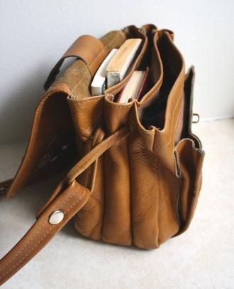 bag brown vintage satchel bag