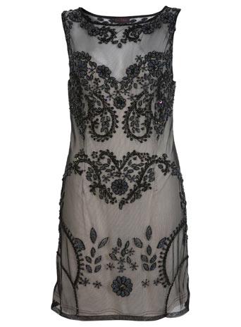 Black embellished dress**