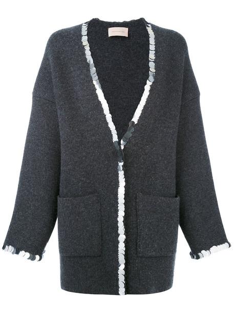 CHRISTOPHER KANE cardigan cardigan women wool grey sweater