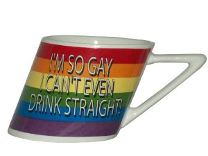 Amazon.com: rainbow i'm so gay/slant mug, 14oz: health & personal care