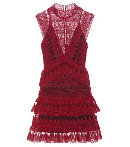 self-portrait dress lace dress lace red