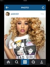 shirt,jadah doll,Jadah Doll hair,Jadah Doll makeup
