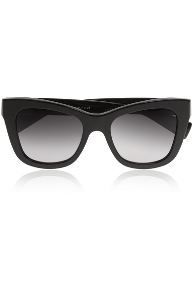 Eye embellished acetate sunglasses