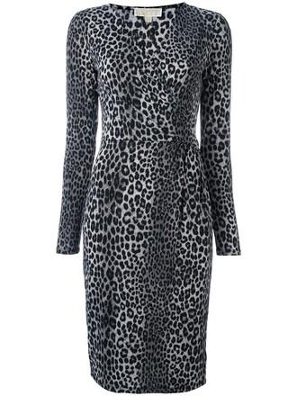 dress print dress leopard print dress women spandex print grey leopard print