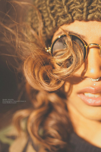 sunglasses brown gold rimmed round sunglasses