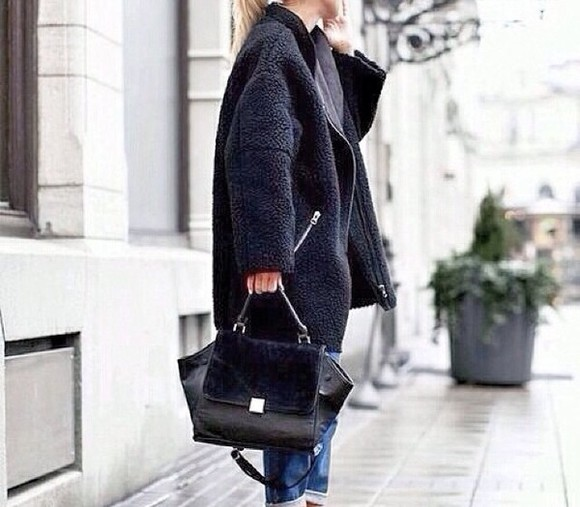 jacket bag leather black perfecto black leather leather bag leather celine