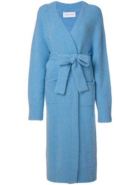 Christian Wijnants coat women spandex blue