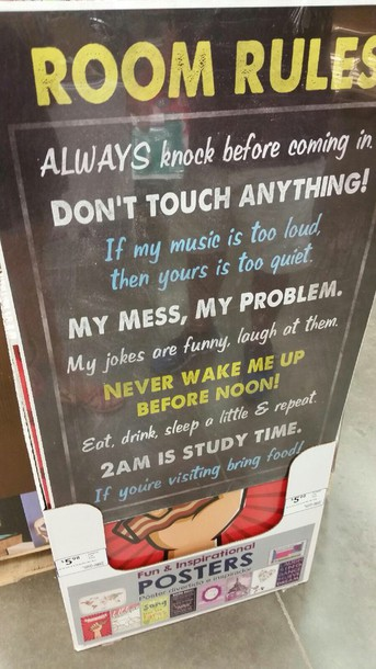 Home Accessory Quote On It Rules Poster Home Decor Cute Life Dorm Room Part 73