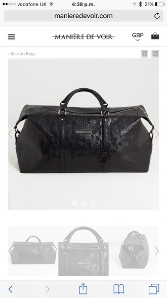 bag snakeskin bag black bag manieredevoir