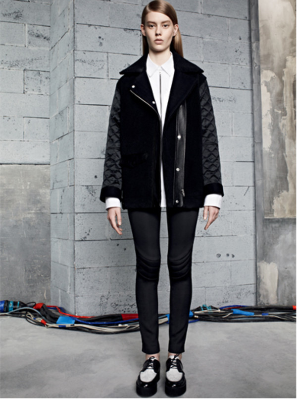 jacket sandro lookbook black pants shoes