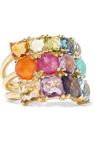 stone ring rock candy ring gold jewels