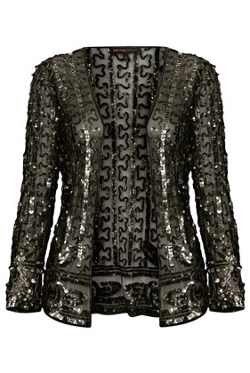 **Sequin Embellished Mesh Jacket by Kate Moss for Topshop - Topshop USA