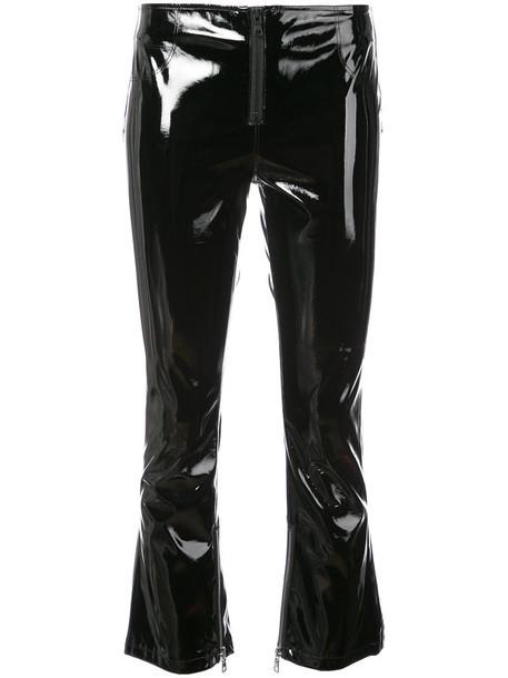 rta cropped women vinyl black pants