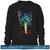 Bones Pattern Print Sweatshirt