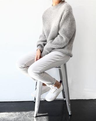 sweater gray oversized oversized sweater