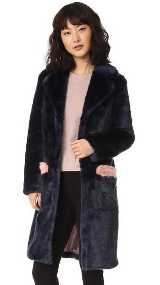 coat rose navy