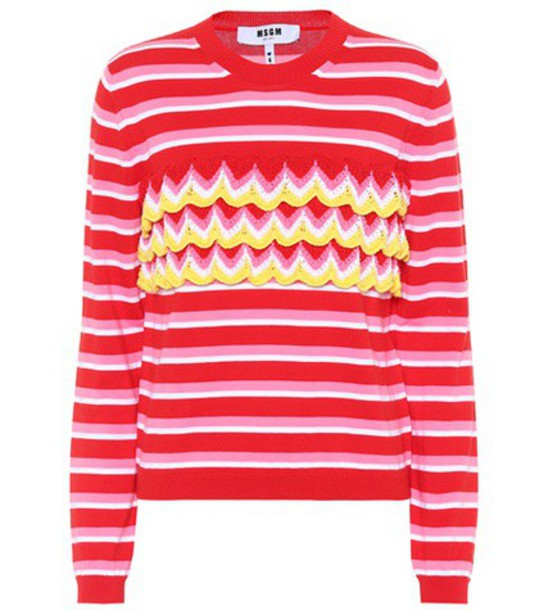 MSGM sweater cotton red