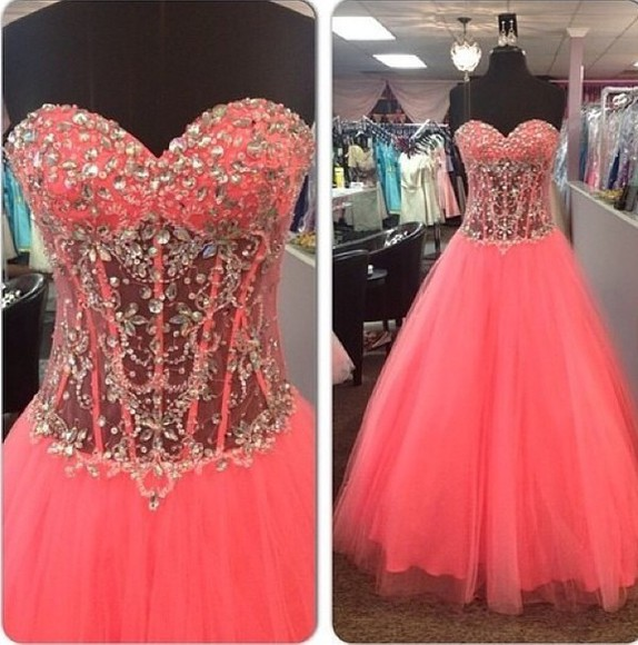 dress love pink floorlength gown lace beautiful dress prom 2015 girly dress, jewels bedazzled need this dress please help find this beautiful dress