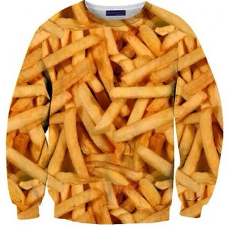 sweater french fries food comfy