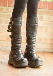 shoes,grey,gray shoes,grey shoes,grey boots,strappy heels,straps,buckle boots,buckles,platform shoes,platform heels,platform lace up boots,boots,all grey everything