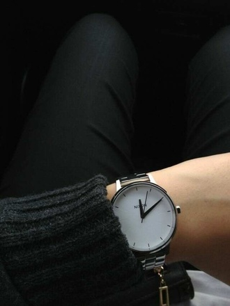 jewels watch nicon accessories classy fashion pretty sleek nixon hipster gemma styles nail accessories white watch minimalist jewelry cute watch jewelry watch black jewels style perf black clock grey white gloves justin bieber sweater kylie jenner jewelry watch black white